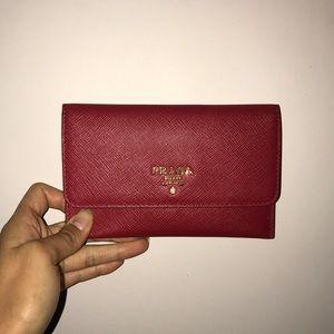 Prada Saffiano Leather Passport Holder & Card Case